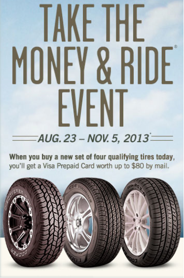 Cooper Tire Promotion Take The Money Ride Offers Customer