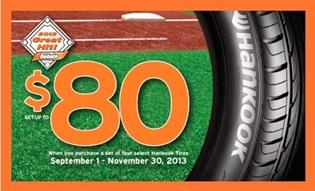 hankook tires 80 rebate promotion your next tire blog. Black Bedroom Furniture Sets. Home Design Ideas