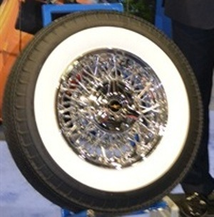 ceo corky coker said the american classic biaslook whitewall radial that is sure to find its way onto thousands of collector cars around the world